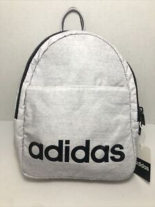 Details about Adidas Core Mini Backpack White Jersey/White/Black One Size