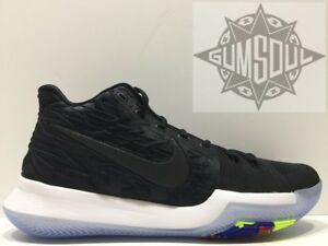 the latest 391c6 902e5 NIKE KYRIE 3 TRIPLE BLACKOUT ICE BLACK IRVING 852395 009 sz ...