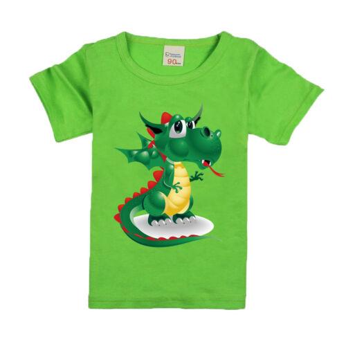 Dinosaur Cotton Boys Short Sleeve T-shirts 2020 New Summer Style Children