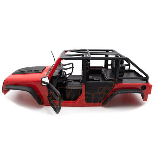 Xtra Speed Jeep Hard Body Front Tube Doors Kit 313mm For SCX10 II RC4WD TF2 Red