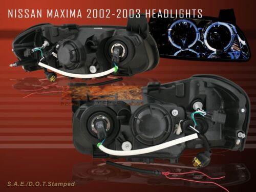 2002-2003  MAXIMA EURO CHROME 2HALO HEADLIGHTS
