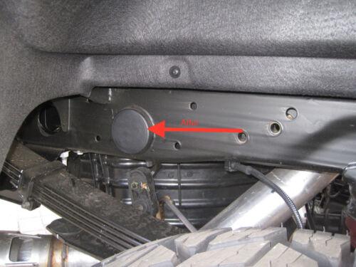 Set of 4 Rear WheelWell Frame Plug Kit 2001-2018 GMC Sierra Silverado 2500 HD