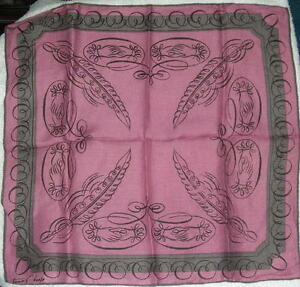 Vintage-Tammis-Keefe-Handkerchief-Plum-amp-Gray-lot-8