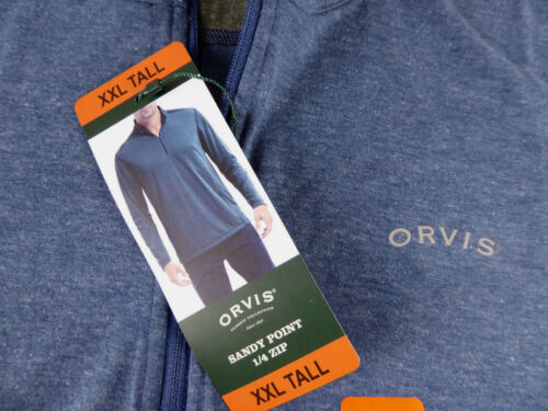 Orvis 1//4 Zip Pullover Dry-Wik Quick Dry Lightweight Sweater Sandy Point NWT $69