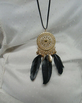 Bague fantaisie attrape reve dream catcher dreamcatcher plumes indien originale