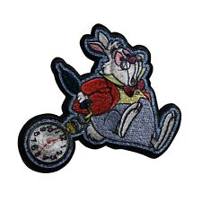 rabbit patch alice patch iron on White Rabbit inspired applique Cheshire Cat Patch Motif We are all Mad Embroidered Patch