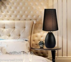 MD-Simplicity-Black-E27-Diameter-15CM-Metal-Fabric-Bedroom-Bedside-Table-Lamp