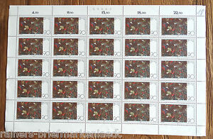 25-x-Bund-1029-postfrisch-kompletter-Bogen-Maler-Paul-Klee-BRD-Full-sheet-MNH