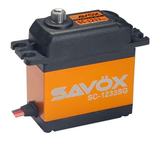 Savox SC-1233SG alta velocidad Digital Servo Coreless Engranaje De Acero 13kg 0.07sec @ 6v
