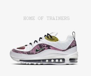 new arrival 37db6 47f64 Image is loading Nike-Air-Max-98-Premium-Animal-White-Pink-