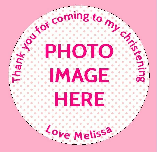 48 personalised christening birthday party bag picture photo stickers labels x