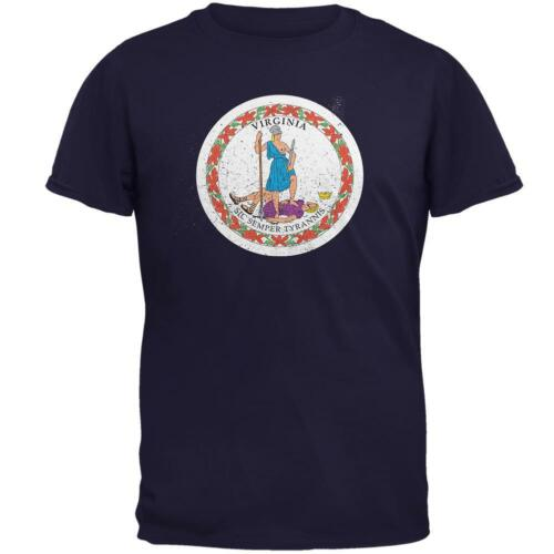 Born and Raised Virginia State Flag Mens T Shirt