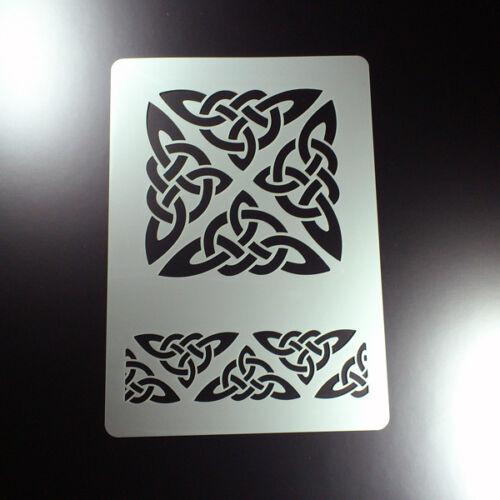 BO359 A3 Schablone Keltischer Knoten Triskele