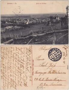 Kamenz Kamjenc Blick vom Hutberg auf die Stadt Oberlausitz Ansichtskarte 1916