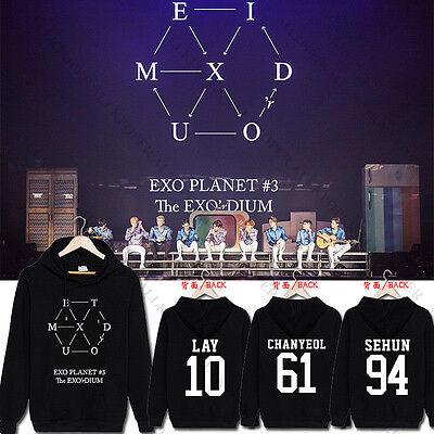 Kpop EXO EXO/'rdium Cap Hoodie Sweater Unisex Sweatershirt Jacket Coat Top Fans