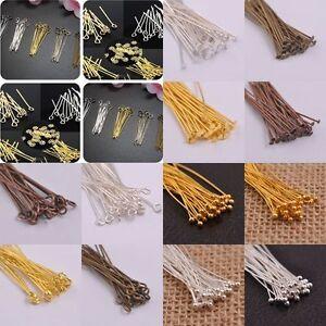 100PCS-Silver-Golden-Head-Eye-Ball-Style-Pin-Jewelry-Findings-15-70MM-21-Gauge