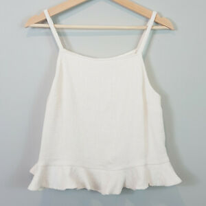 SEED-HERITAGE-Womens-Textured-Frill-cami-Top-Size-AU-12-or-US-8