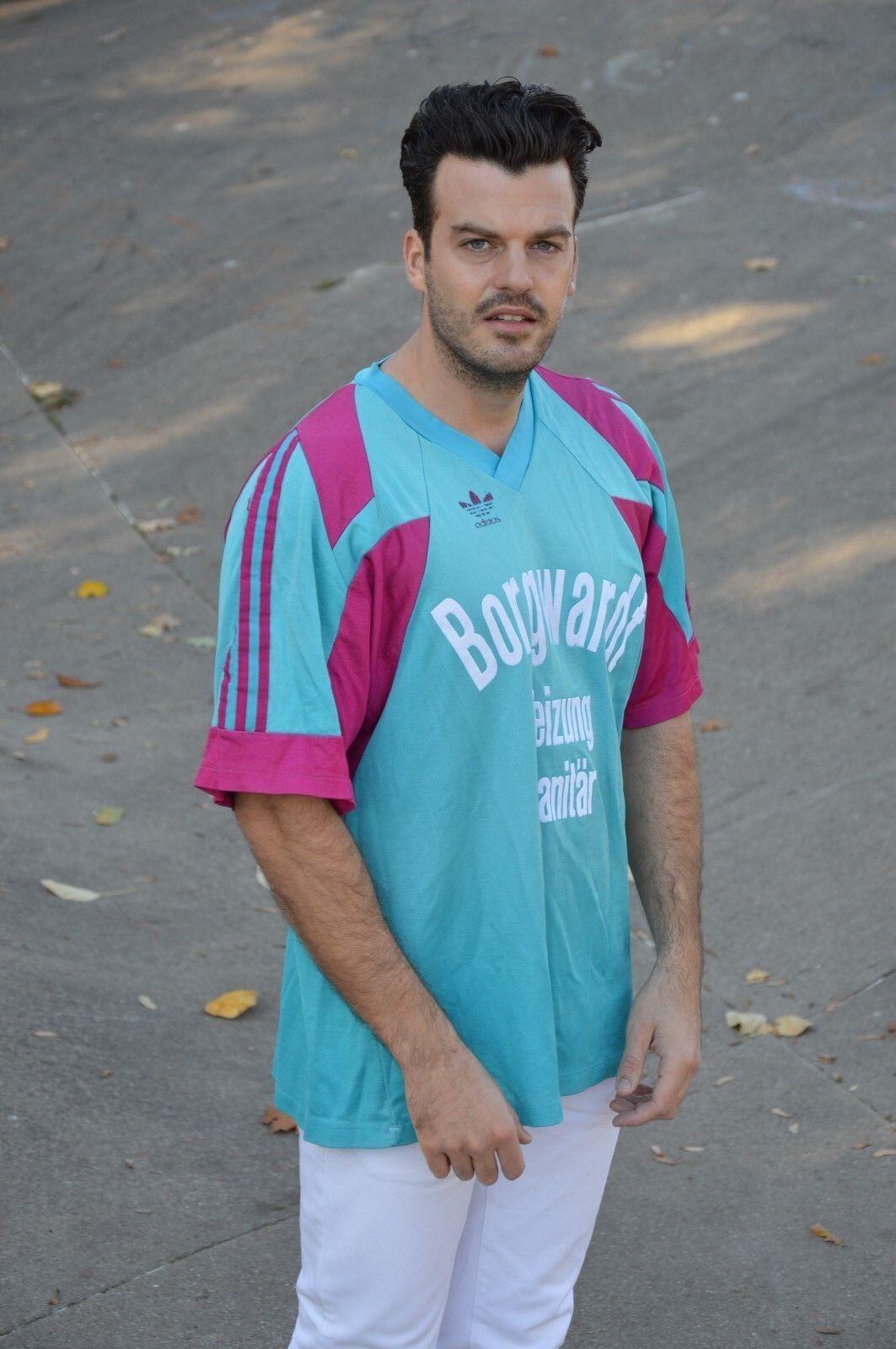 Adidas Trikot Fußball Spielerhemd made inYugoslavia sport shirt TRUE VINTAGE 90s  | Elegant Und Würdevoll