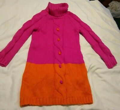 5,6  Brown with Zig Zags Details about  /NWT Gymboree Girl/'s Turtleneck Sweater Dress Sizes