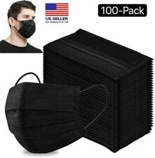 50 100 Pcs Black Face Mask Mouth Amp Nose Protector Respirator Masks With Filter