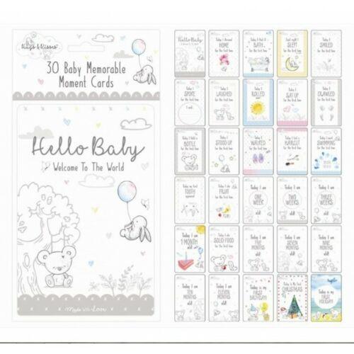 New Mum Gift unisex Baby Shower 30 Baby memorable Moment Cards Girl Boy