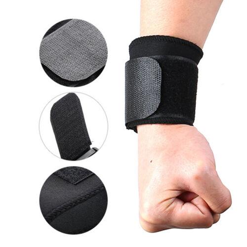 2pcs Adjustable Strap Wristband Sport Gym Wrist Brace Bandage Guard Support US