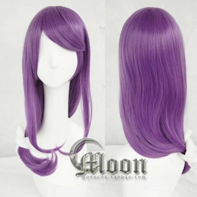 Hot New 70cm long purple cosplay Tokyo Ghoul Kamishiro Rize wig skin top Party