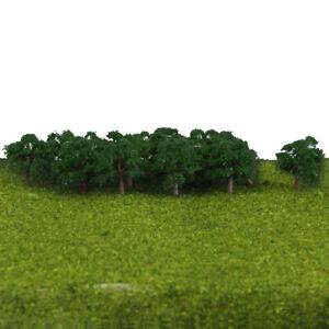 25 Model Trees Train Railway Wargame Diorama Scenery 4CM Z 1/300 Dark Green