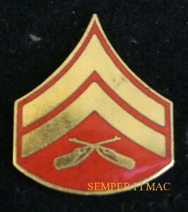 AUTHENTIC US MARINE CORPORAL CPL HAT LAPEL PIN MARINES E-4 ...