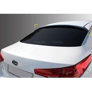 Smoke Roof Rear Visor Wing Spoiler Molding for KIA Optioma 2011-2015