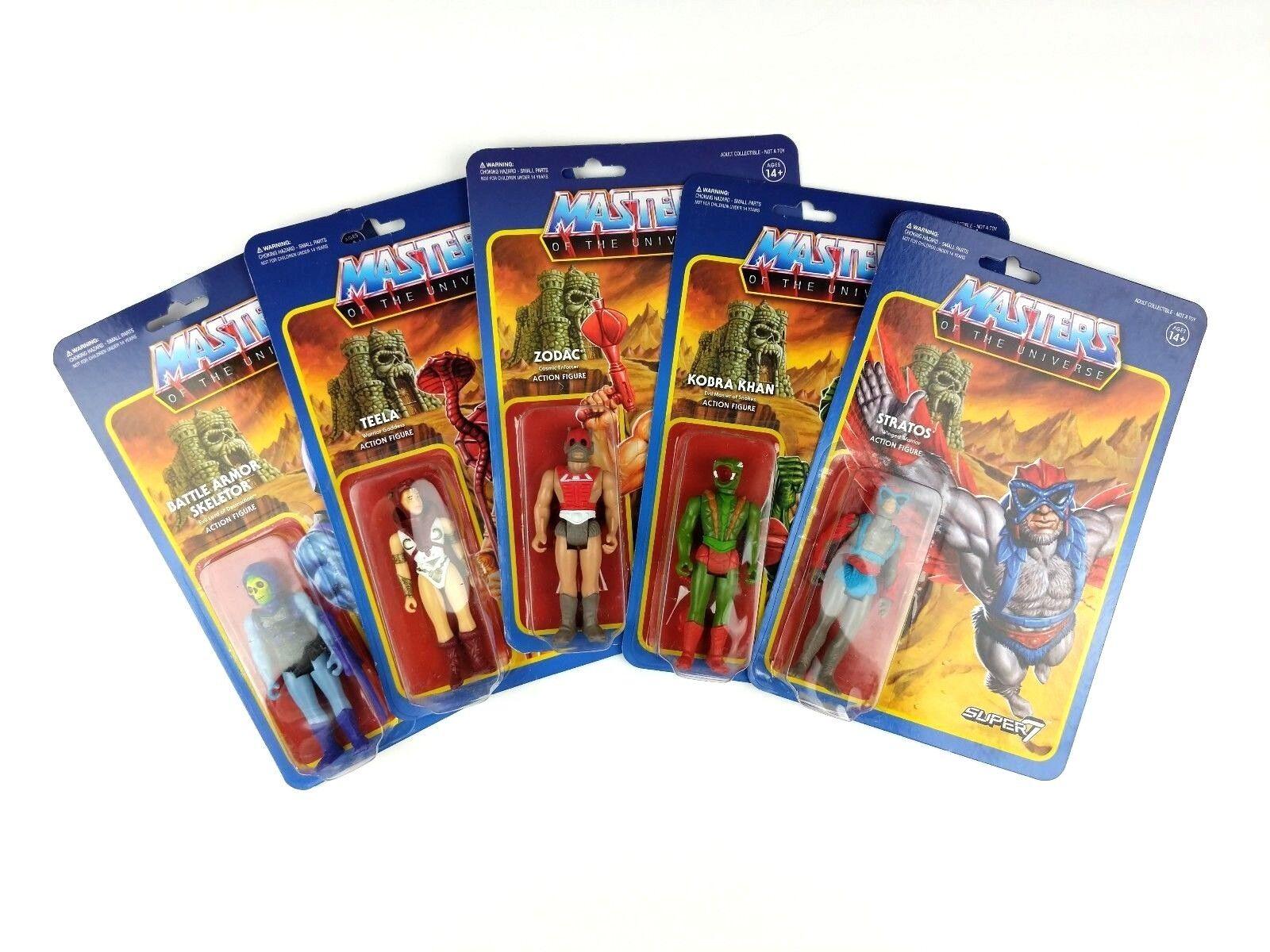 Masters del universo Lote 7 Súper de acción figura Zodac Kobra Skeletor Amos Del Universo