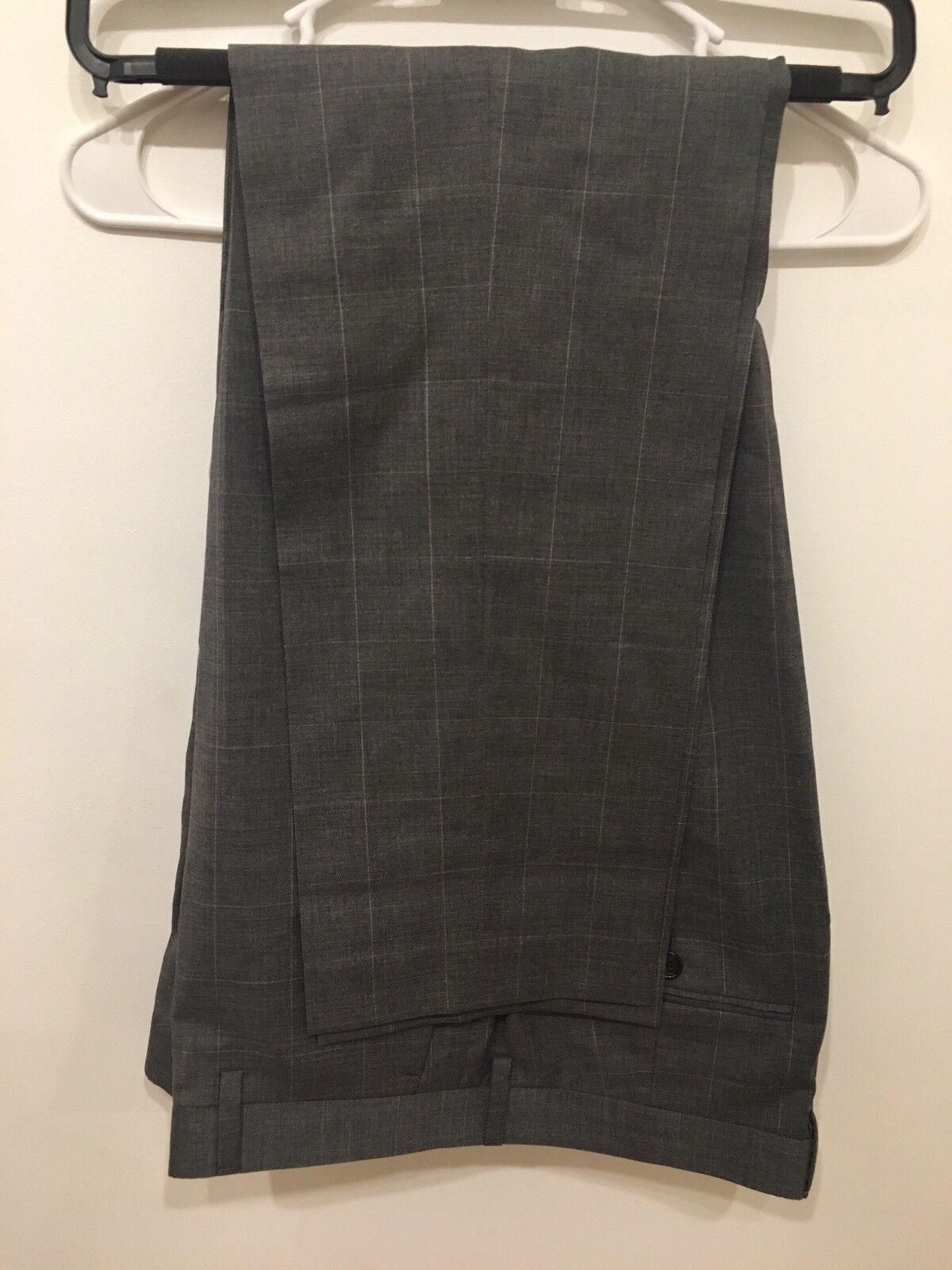NEW J.Crew Men's Ludlow Slim-fit Suit Pant Steel Grey American Wool 33x32