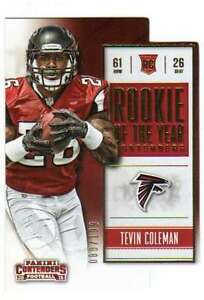 2015-Panini-Contenders-Rookie-of-the-Year-Contenders-Gold-RC-199-Tevin-Coleman