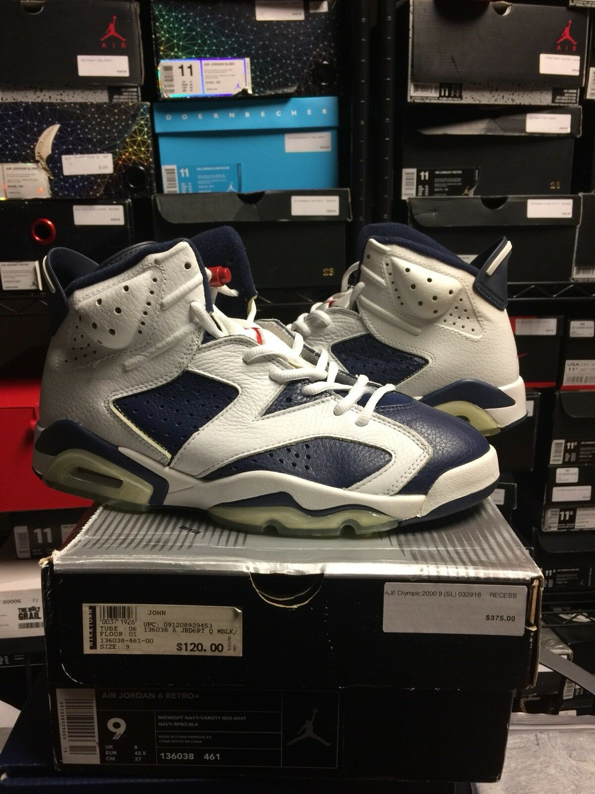BRAND NEW NIKE AIR JORDAN OLYMPIC 6 VI 2000 MIDNIGHT NAVY Size 9