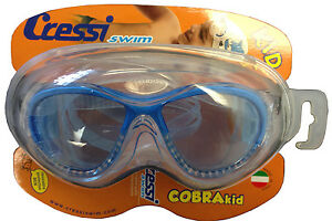 bc47b7908c5 Image is loading Cressi-Cobra-Junior-Kids-Swim-Goggles-Swimming-Mask-