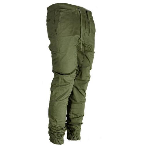 Men Skinny Jogging Bottom Jogger Tracksuit  Slim Fit Pant Gym Sweats Long Pants
