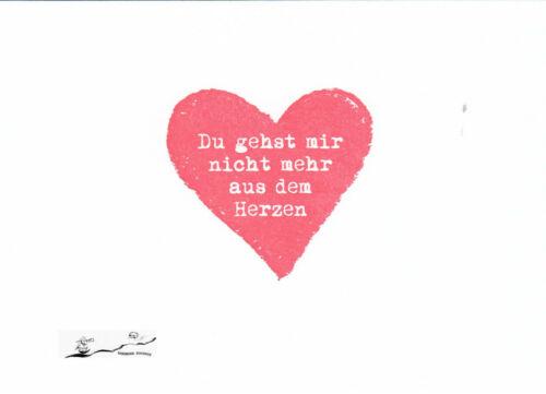 Postkarte Du gehst mir nicht mehr aus dem Herzen