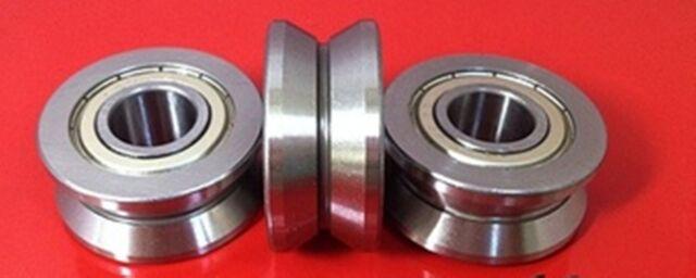 2pcs LV20//10 V Groove 10*30*14mm Sealed Ball Track Roller Guide Vgroove Bearing