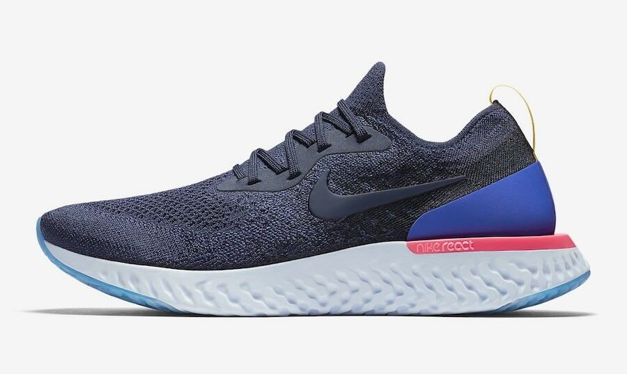 Nike Epic React Flyknit Blue Red White AQ0067-400 Comfortable