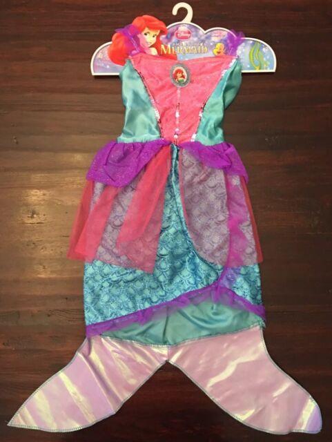 ac504ef1d9 Disney Little Mermaid Princess Ariel Dress Costume Girls Light-up 4-6x