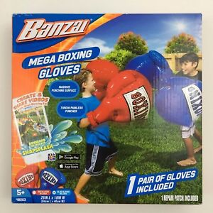 2 PAIR NEW BANZAI INFLATABLE MEGA BOXING GLOVES Kids Toy Outdoor 4 GLOVES