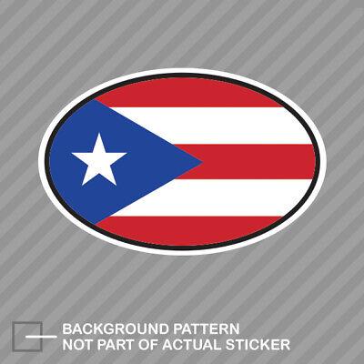 Puerto Rico Oval Sticker Decal Vinyl Puerto Rican Country Code euro PR v4