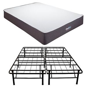 Full 10 5in Mattress Platform Bed Frame Plush Cool Gel Memory Foam