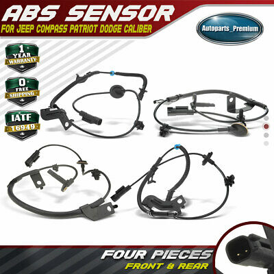 Set of 2 Rear Left and Right ABS Wheel Speed Sensors for Jeep Compass Patriot 2007-2014 Dodge Caliber 2007-2008 4WD Only