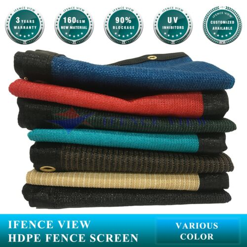 Ifenceview 4/'x25/' Black Fence Privacy Screen Mesh for Construction Yard Garden