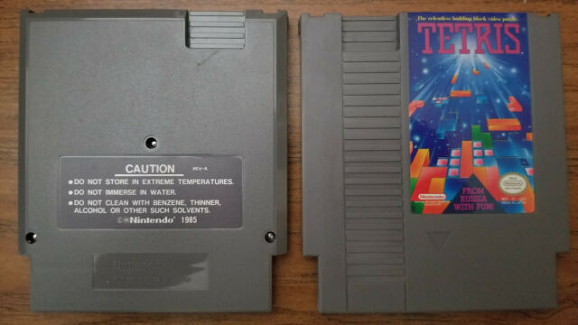 Tetris (Nintendo Entertainment System, 1989) with dust cover