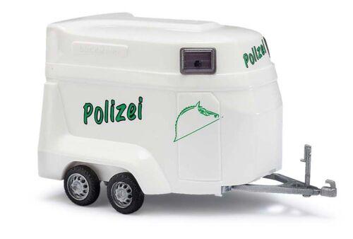 BUSCH 44925 Pferdeanhänger der Polizei H0 #NEU in OVP#