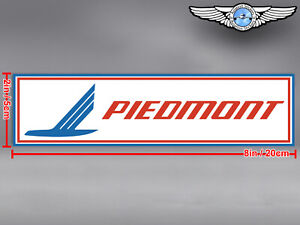 PIEDMONT AIRLINES LOGO RECTANGULAR DECAL / STICKER