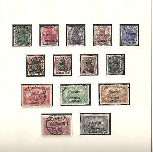 Allenstein-1920-Michelnummern-1-14-o-gestempelt-o-Katalogwert-70-00