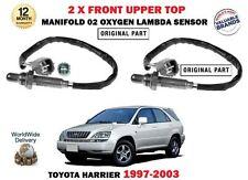 FOR TOYOTA HARRIER 3.0 1997-2003 2X FRONT UPPER MANIFOLD 02 OXYGEN LAMBDA SENSOR